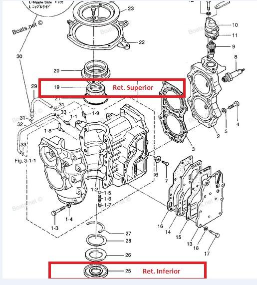 Kit Retentor Virabrequim Mercury 15 / 18 HP- Super