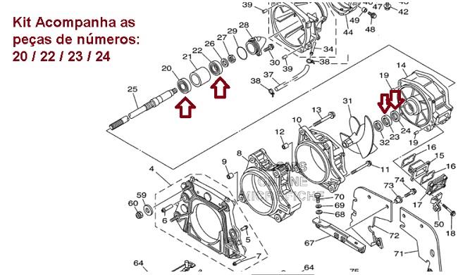 Kit Turbina Jet Ski Yamaha FX / VX 1050