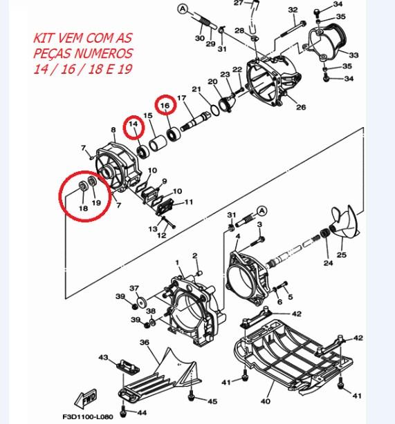 Kit Turbina Jet Yamaha VX 700 / VX 1100