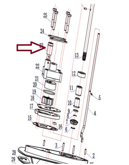 Luva Vedação Carcaça Bomba Agua Hidea 3.5 / Mercury 3.3 HP