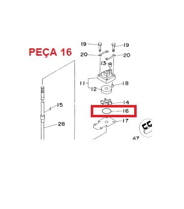 Oring Carcaca Bomba Agua Yamaha 9.9 / 15 HP