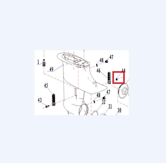 Porca M5 - Tela Proteção Rabeta