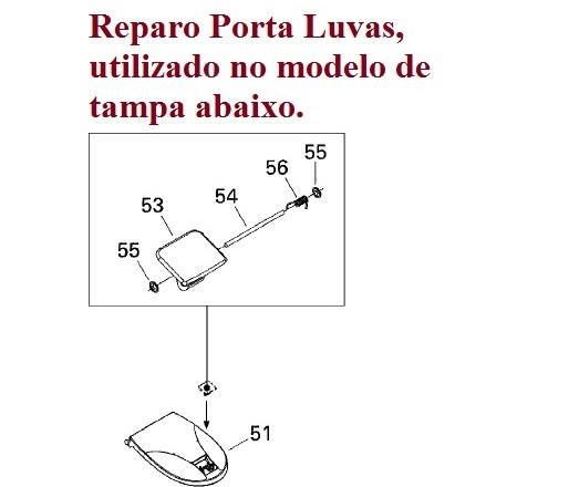 Reparo Tampa Porta Luvas Jet Sea Doo
