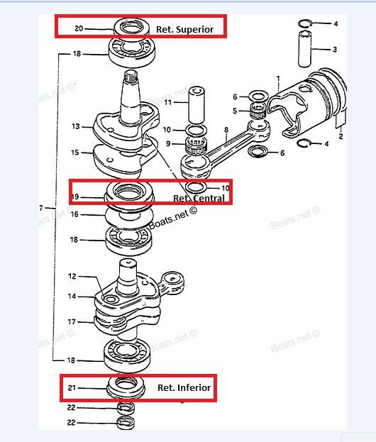 Retentor Central Suzuki 20 / 25 / 30 HP