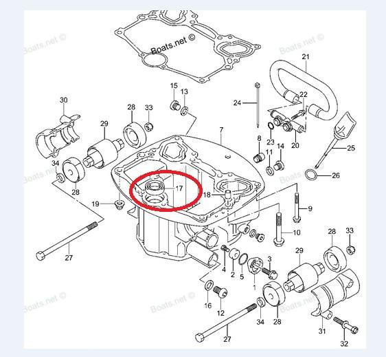 Retentor Eixo Transmisao Suzuki 20 / 25 / 30 HP