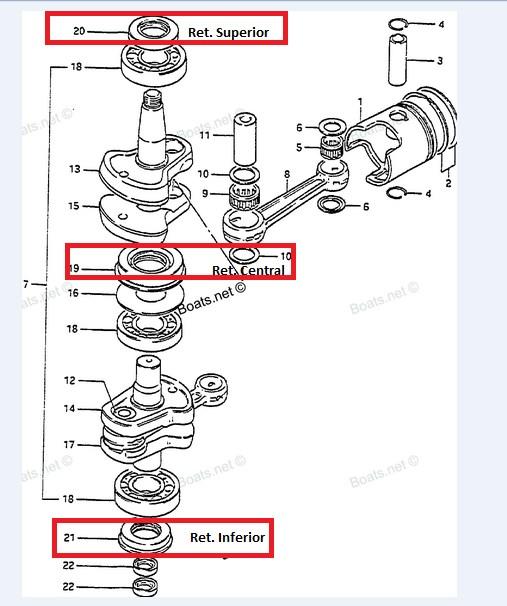 Retentor Inferior Suzuki 20 / 25 / 30 / 40 HP
