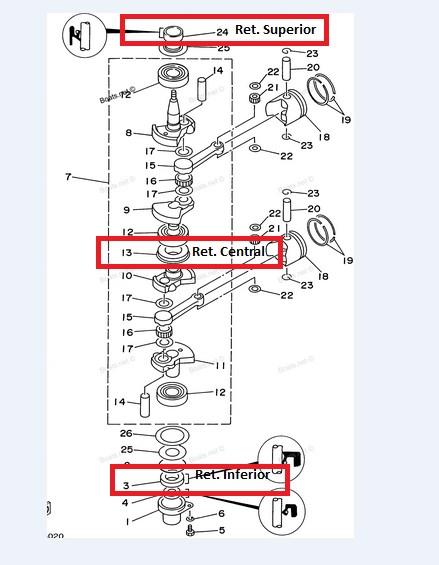 Retentor Inferior Yamaha 9.9 / 15F HP
