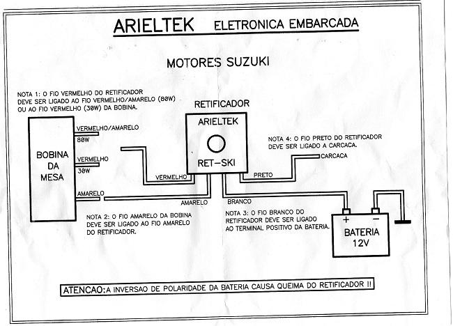 Retificador Voltagem Suzuki 15 a 40 HP