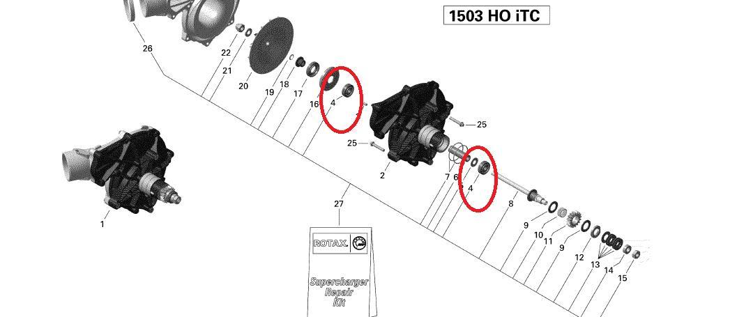 Rolamento Kit Supercharger Jet Sea 4-TEC ( PAR )