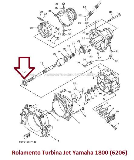 Rolamento Turbina Jet Ski Yamaha 1800 (6206)