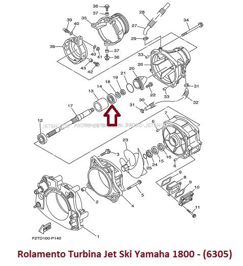 Rolamento Turbina Jet Ski Yamaha 1800 - (6305)