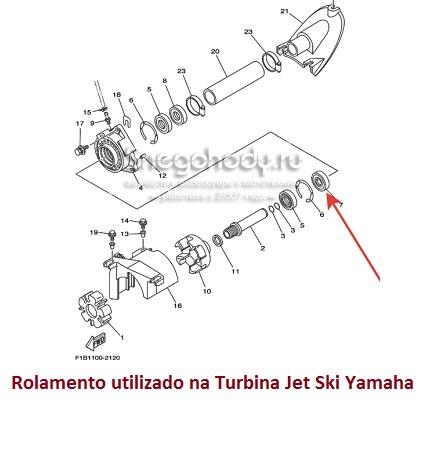 Rolamento Turbina Jet Ski Yamaha