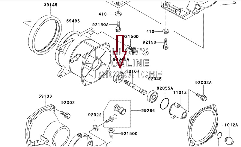 Rolamento Turbina Kawasaki 750 / 900