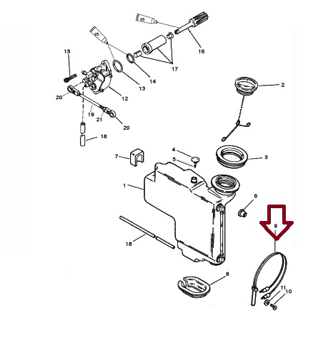 Sensor Tanque Oleo Mercury / Mercruiser
