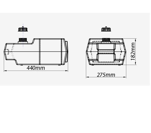 Tanque Gasolina 12 Litros Vertical - Branco