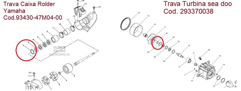Trava Inox Turbina Jet Sea / Caixa Rolder Yamaha