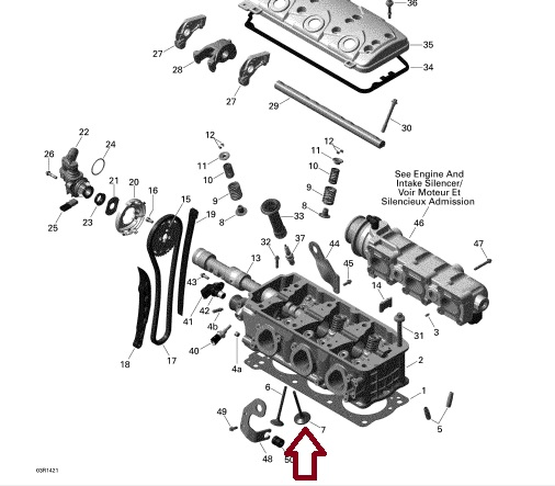 Valvula Admissão Jet Sea 4 TEC ( 38MM ) - WSM