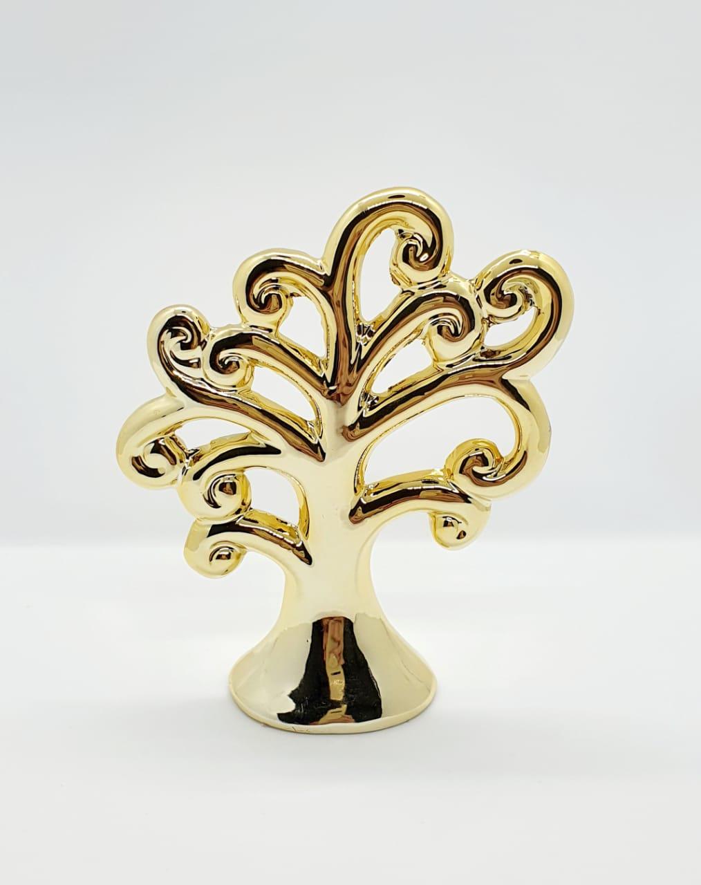 Árvore decorativa em cerâmica metalizada