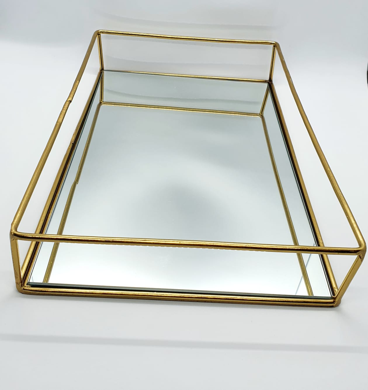 Bandeja Imperial espelhada dourada (maior)