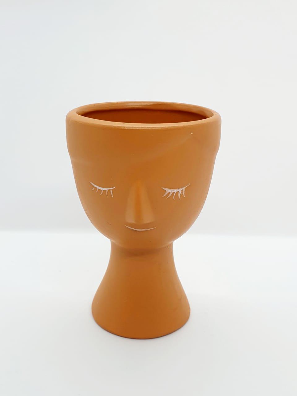 Cachepô em cerâmica argila pequeno