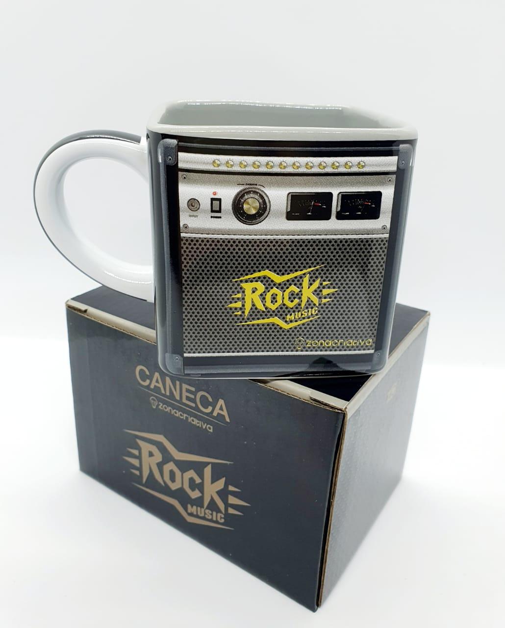Caneca cubo 300ml - Rock music