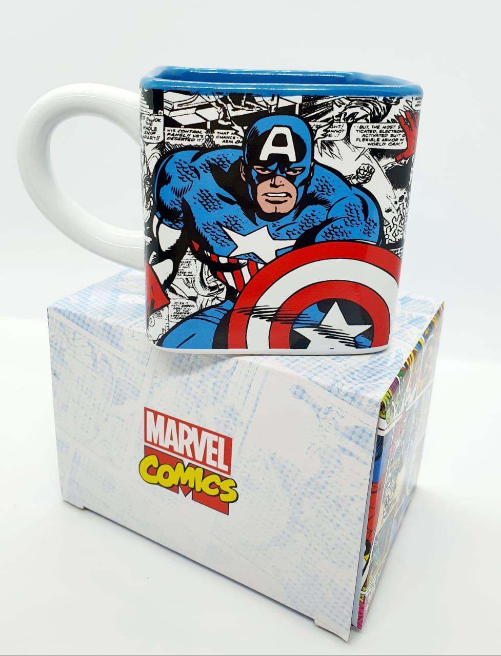 Caneca cubo Marvel 300ml - Capitão América