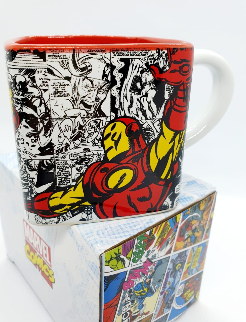 Caneca cubo Marvel 300ml - Homem de Ferro
