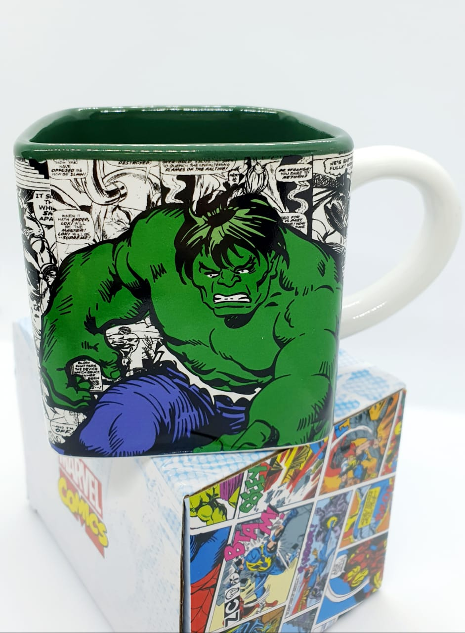 Caneca cubo Marvel 300ml - Hulk