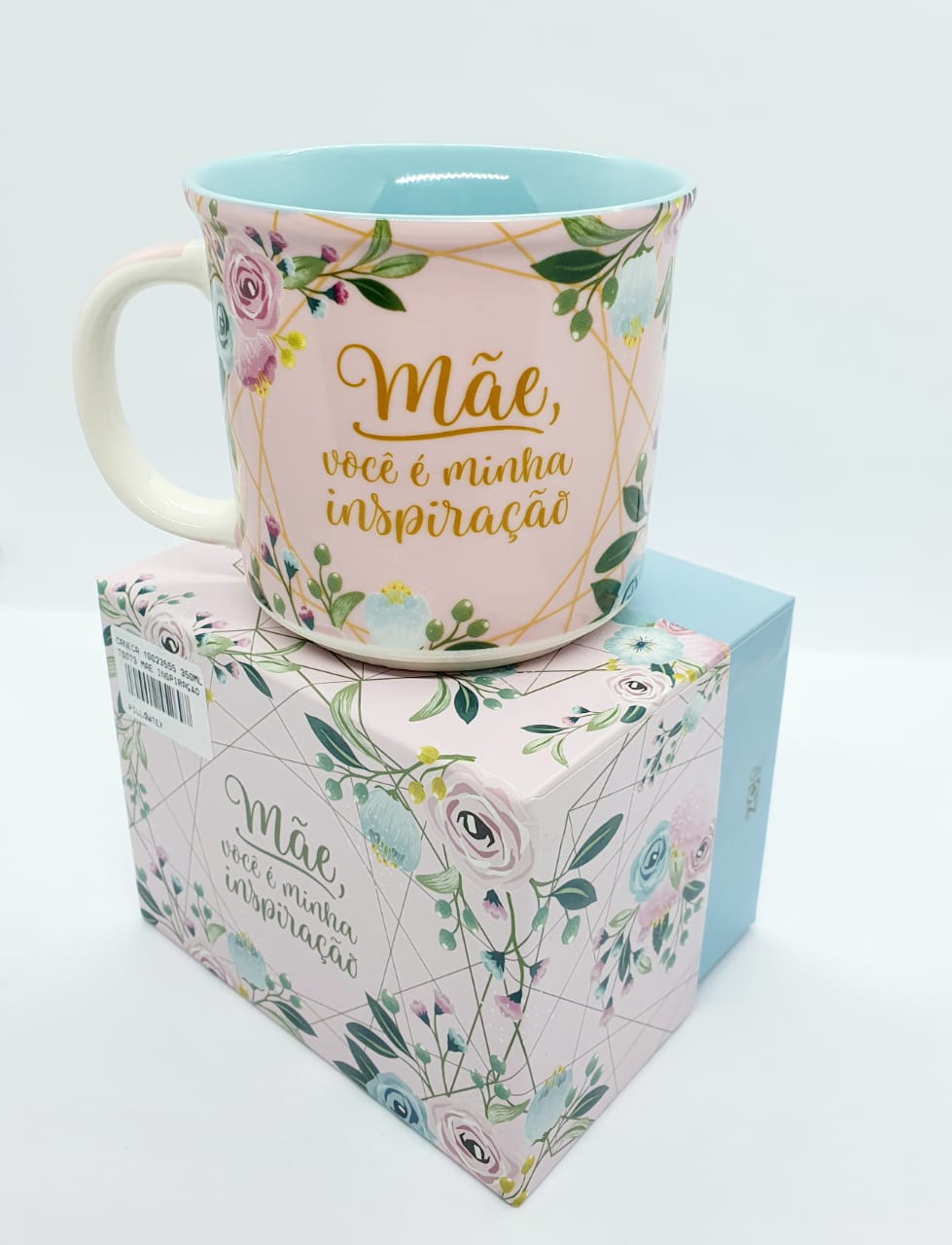 Caneca floral 350ml - Mãe você é minha inspiração