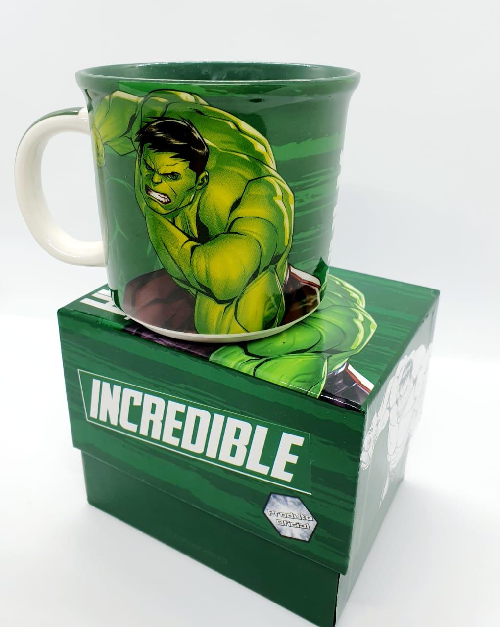 Caneca redonda Marvel 350ml - Hulk