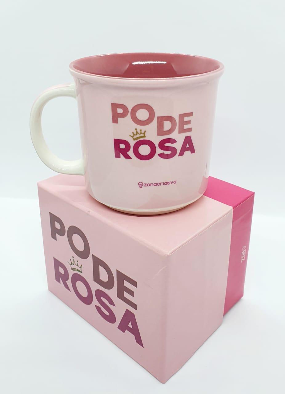 Caneca rosa 350ml - Poderosa