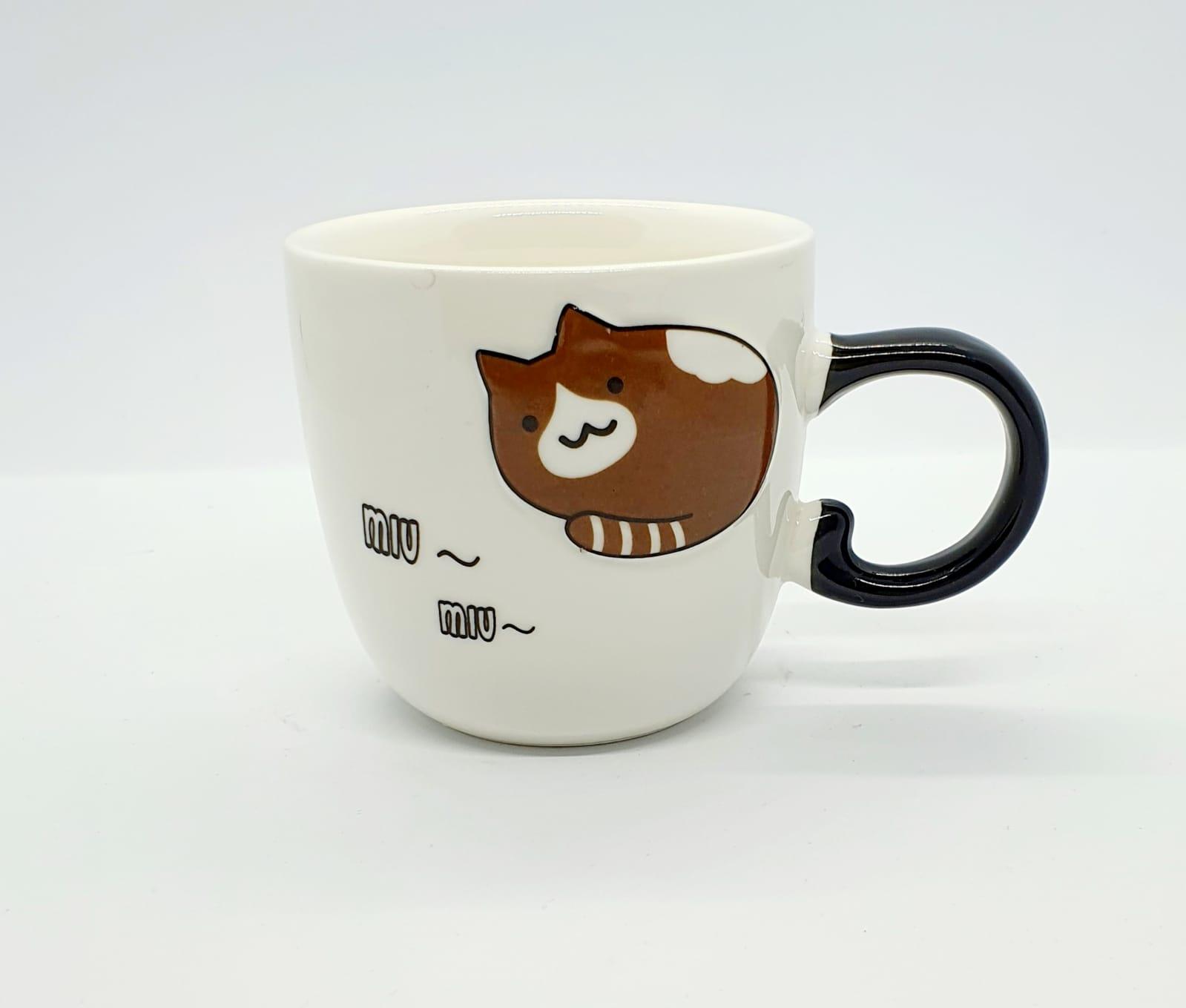 Caneca/Vaso gatinho Miu Miu em cerâmica - 200ml
