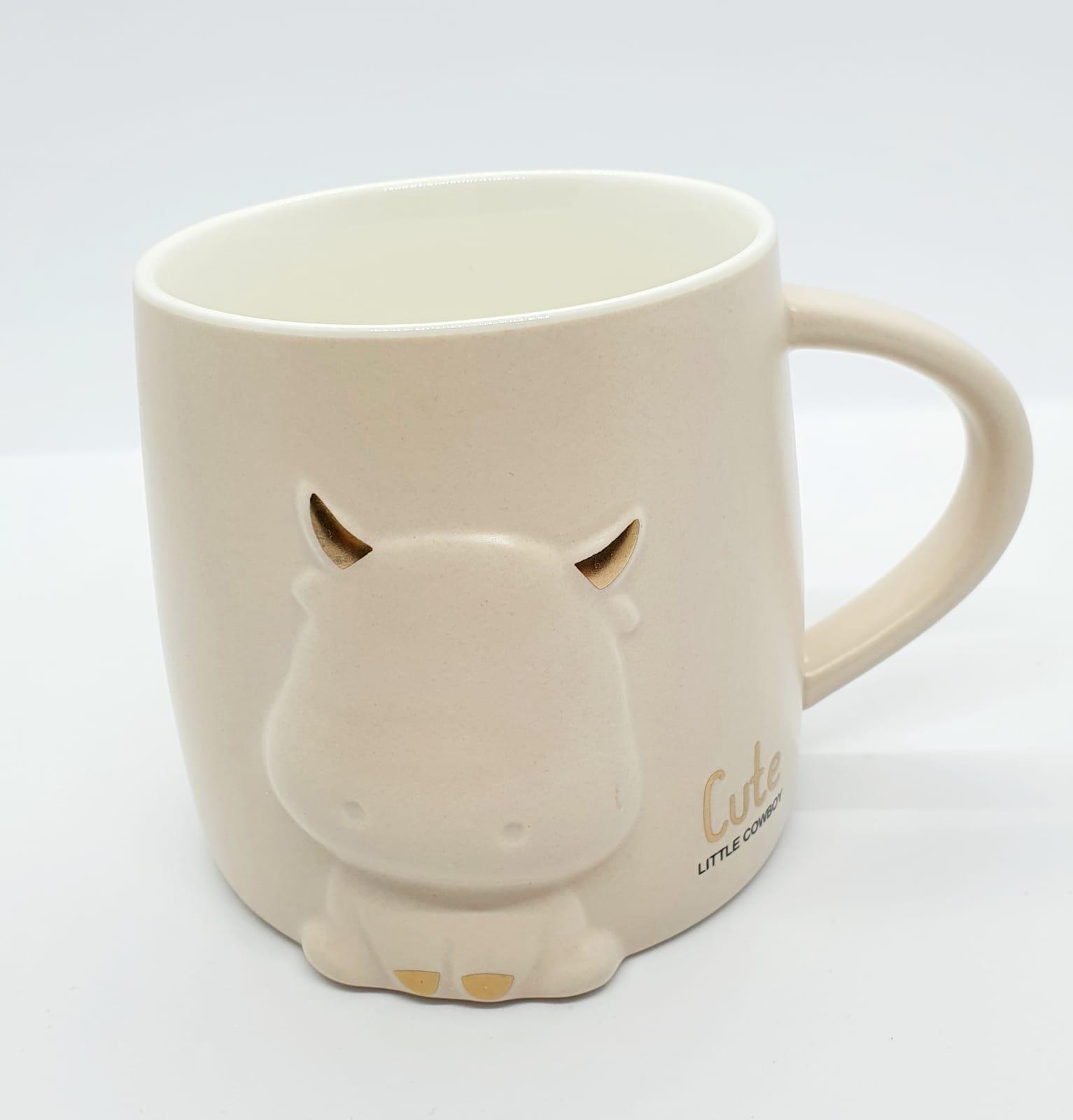 Caneca/Vaso tourinho bege - 400ml