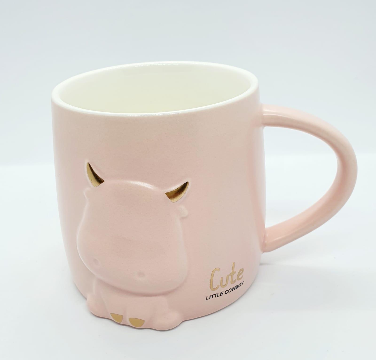 Caneca/Vaso tourinho rosa - 400ml