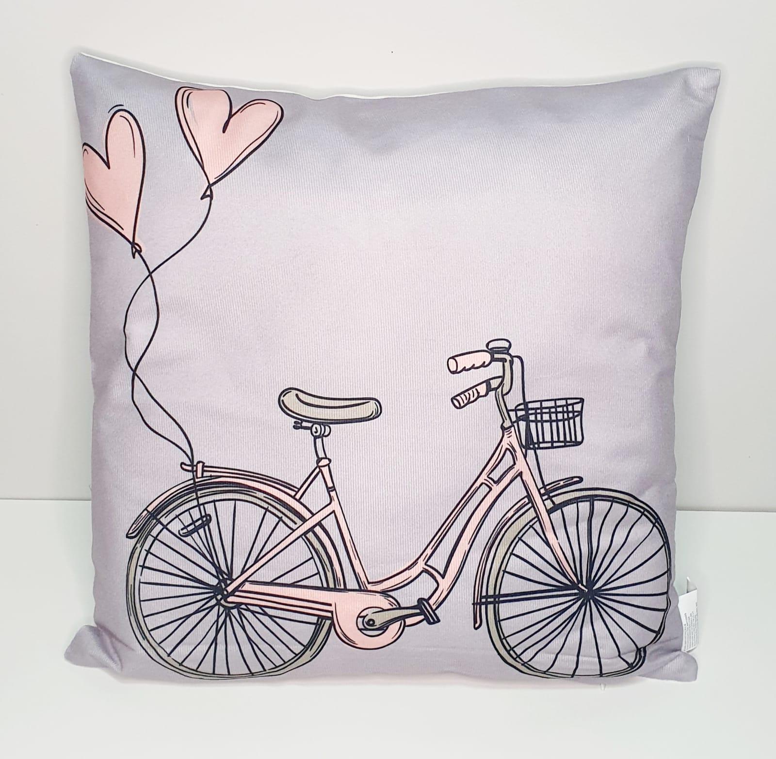 Capa para almofada - Bicicleta