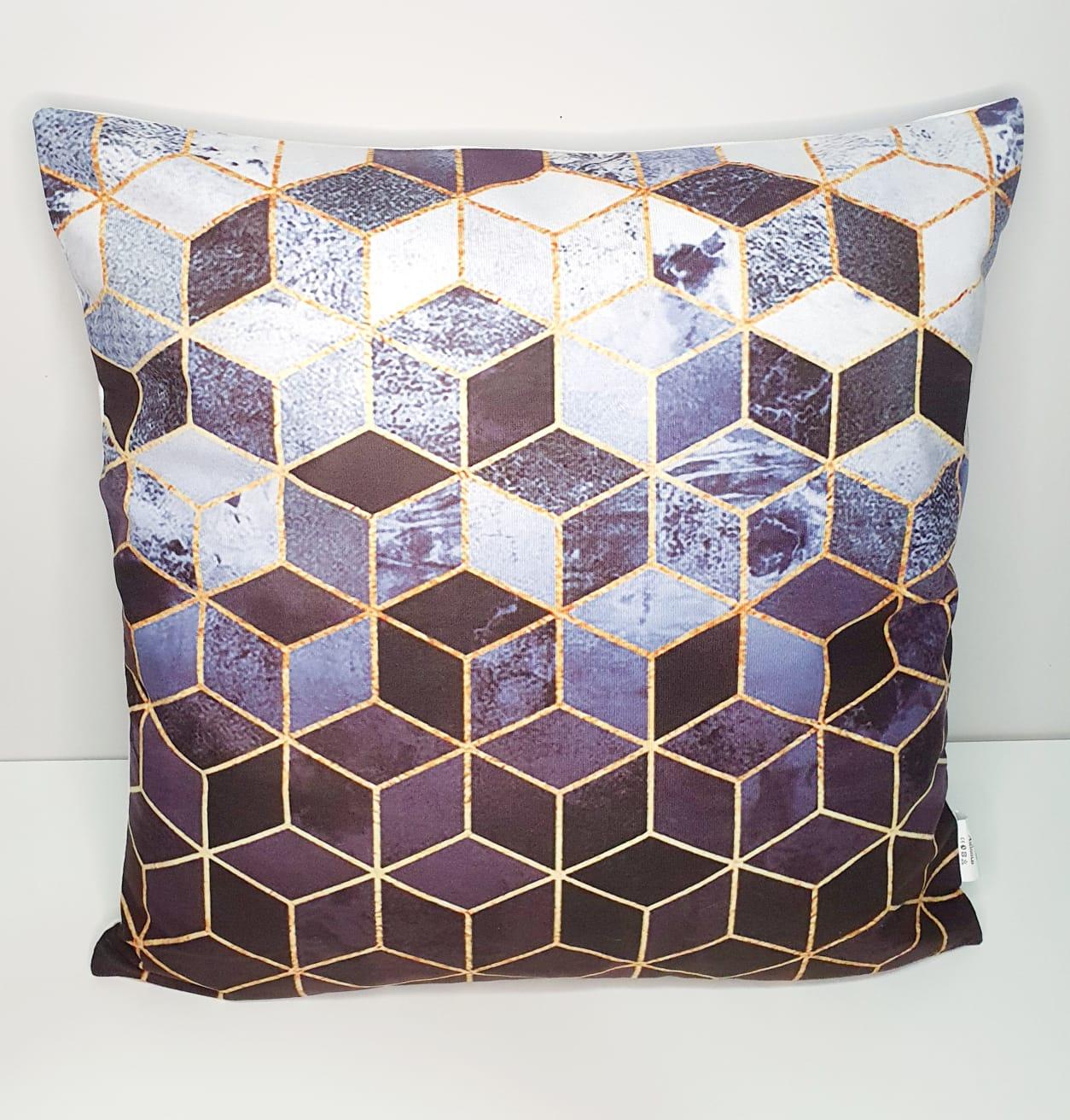 Capa para almofada - hexagonal
