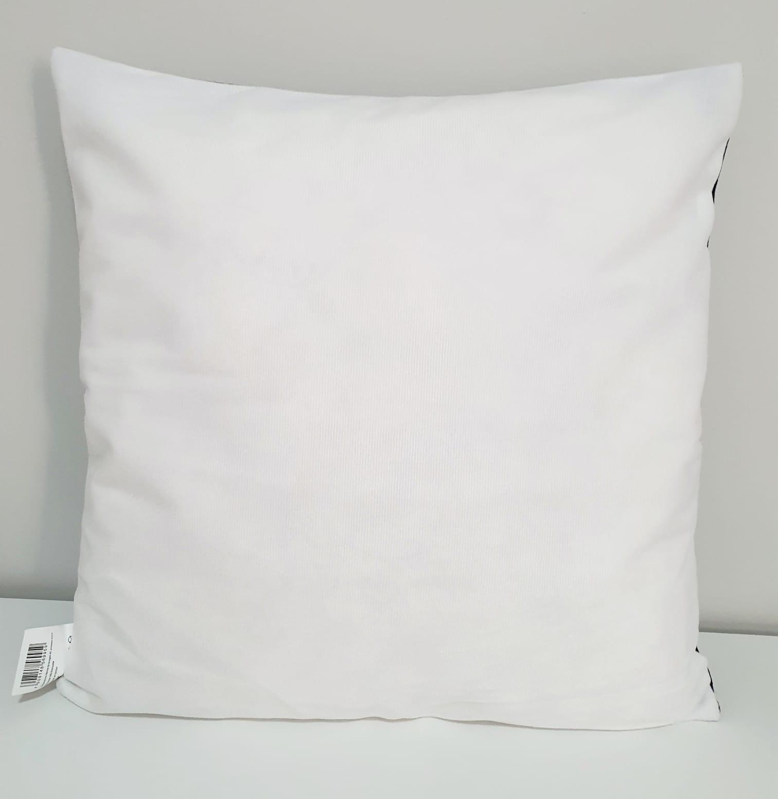 Capa para almofada - Mr. Preta e branca