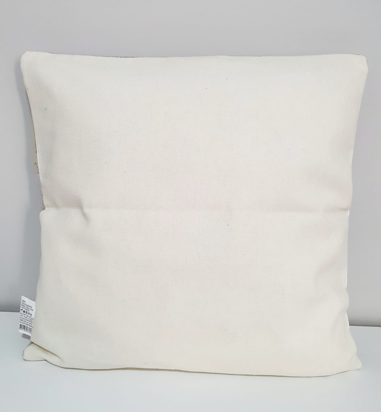 Capa para almofada - Tricô macramê 5 tons