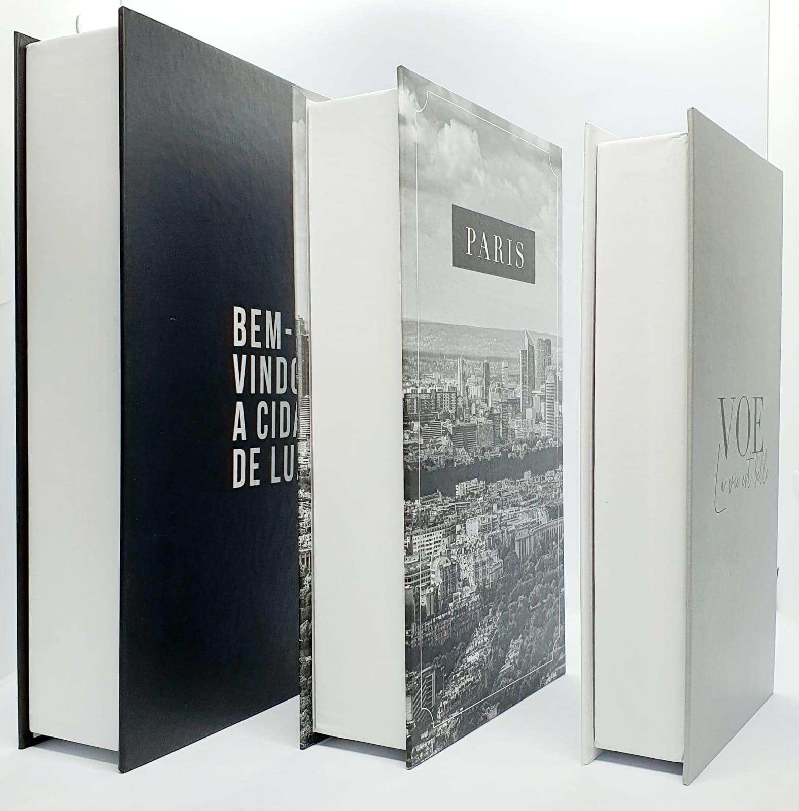 Conjunto caixa decorativa - BEM VINDO A CIDADE LUZ - 3 peças