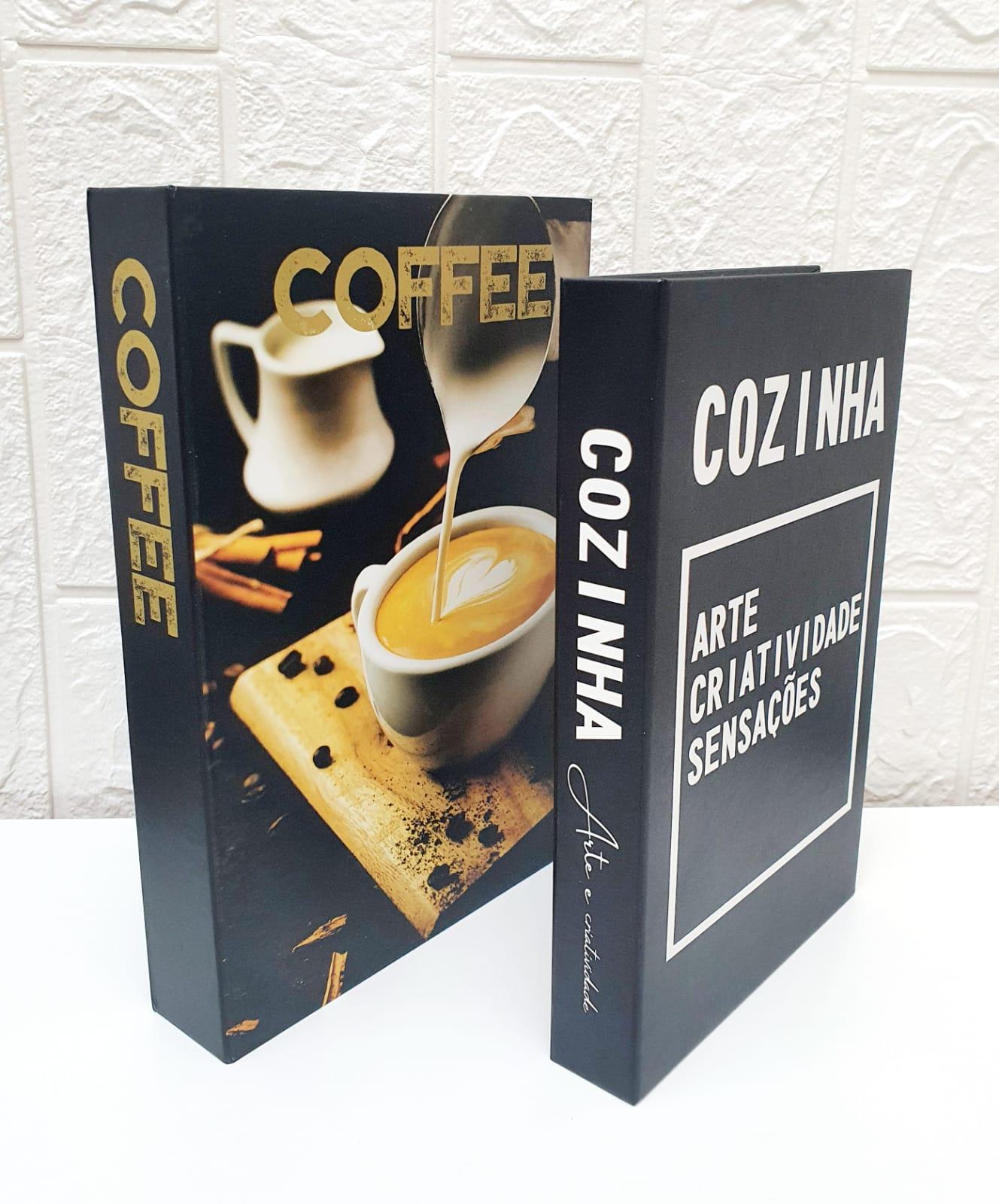 Conjunto caixa decorativa Coffee -  2 peças