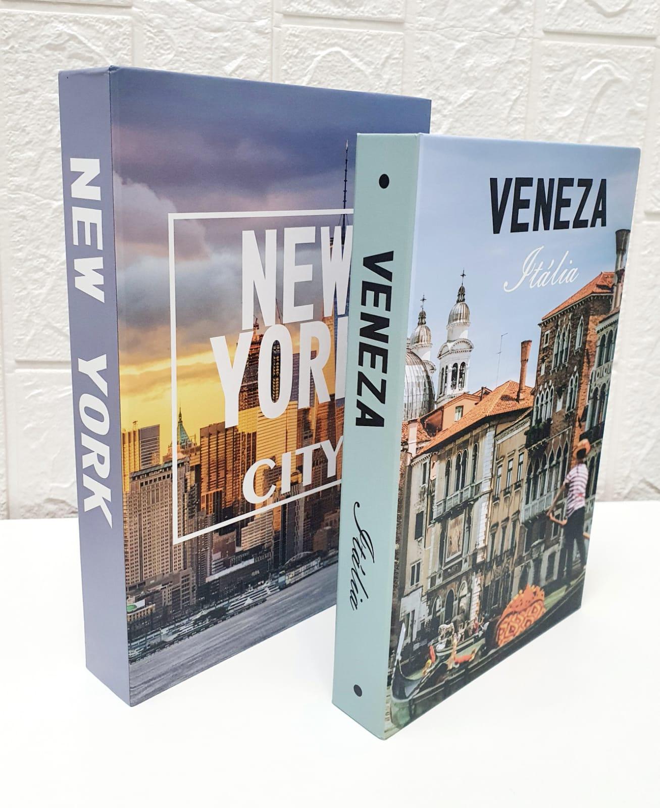 Conjunto caixa decorativa New York -  2 peças