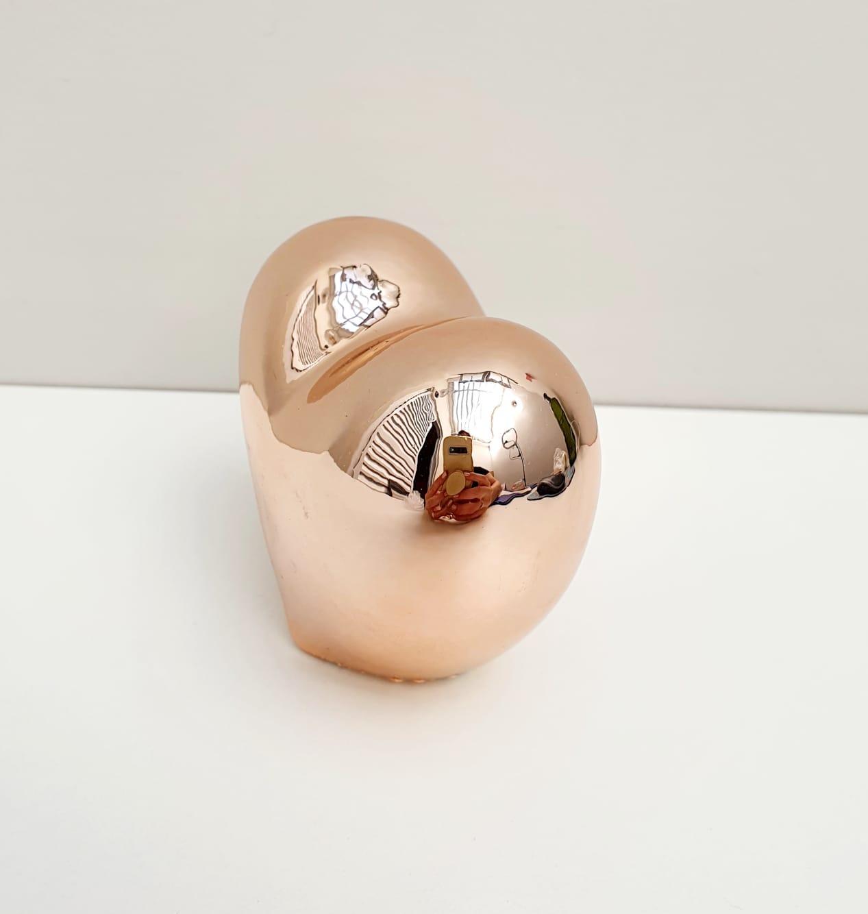 Coração decorativo em resina