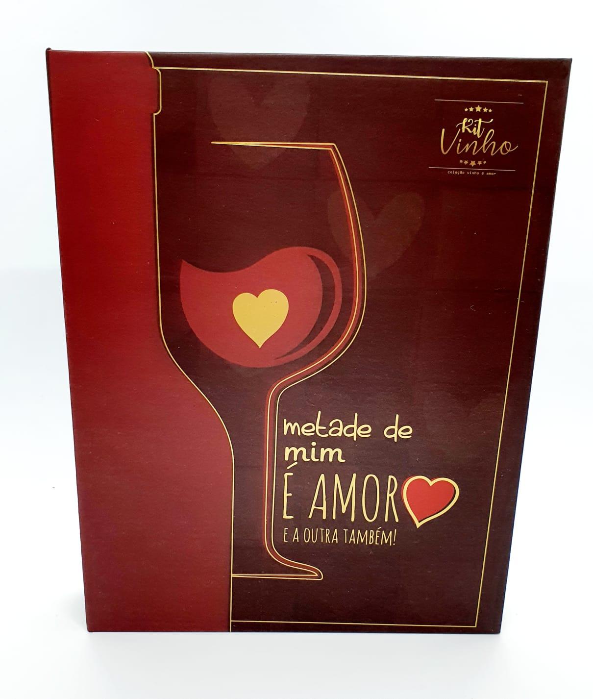 Kit Vinho - Metade de mim é amor e a outra também - 5 peças