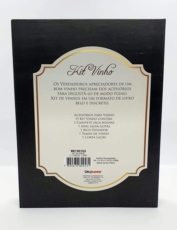 Kit Vinho - Para um amante de vinhos - 5 peças