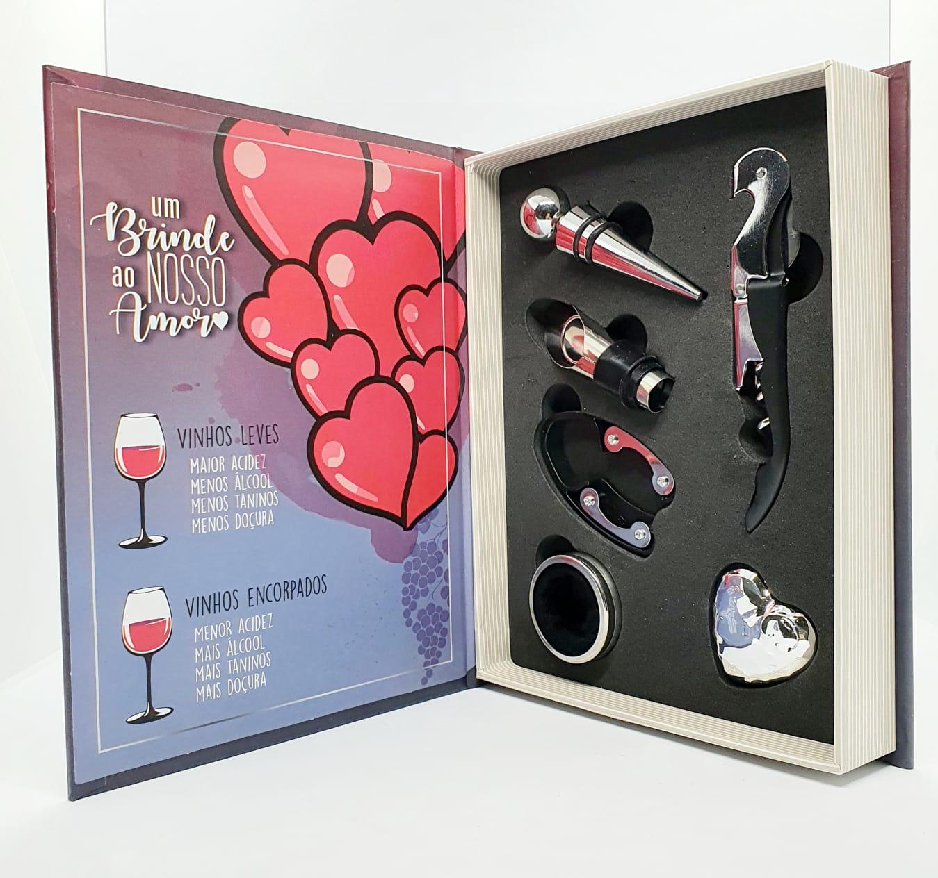 Kit Vinho - Um brinde ao nosso amor - 5 peças