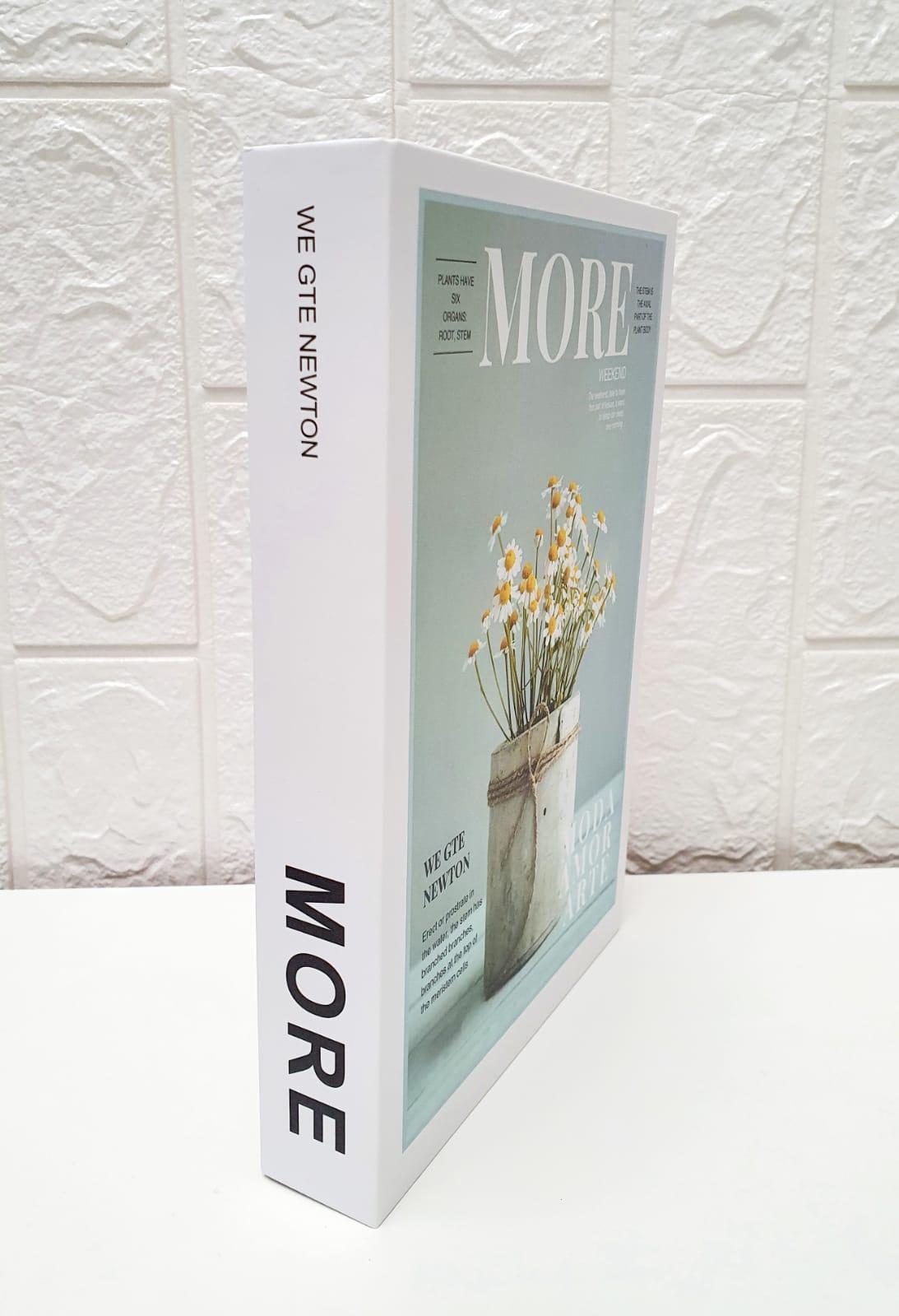 Livro de papel decorativo - More