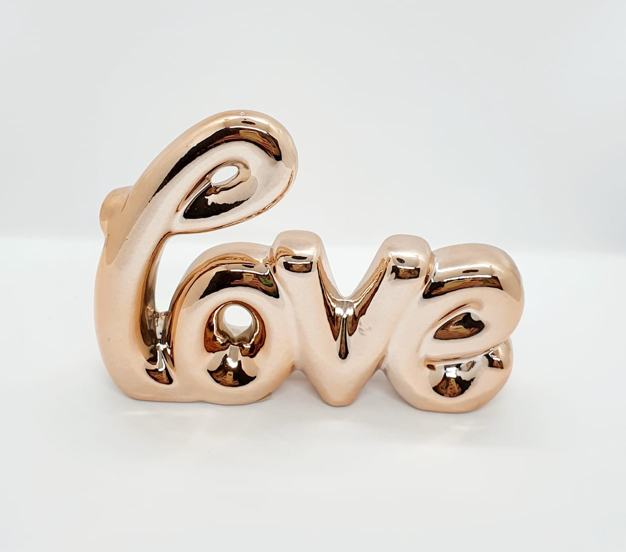 Love em cerâmica metalizado pequeno - rose gold