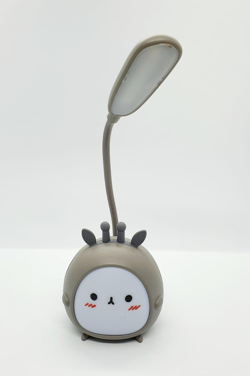 Luminária de LED tipo abajur - bichinho cinza
