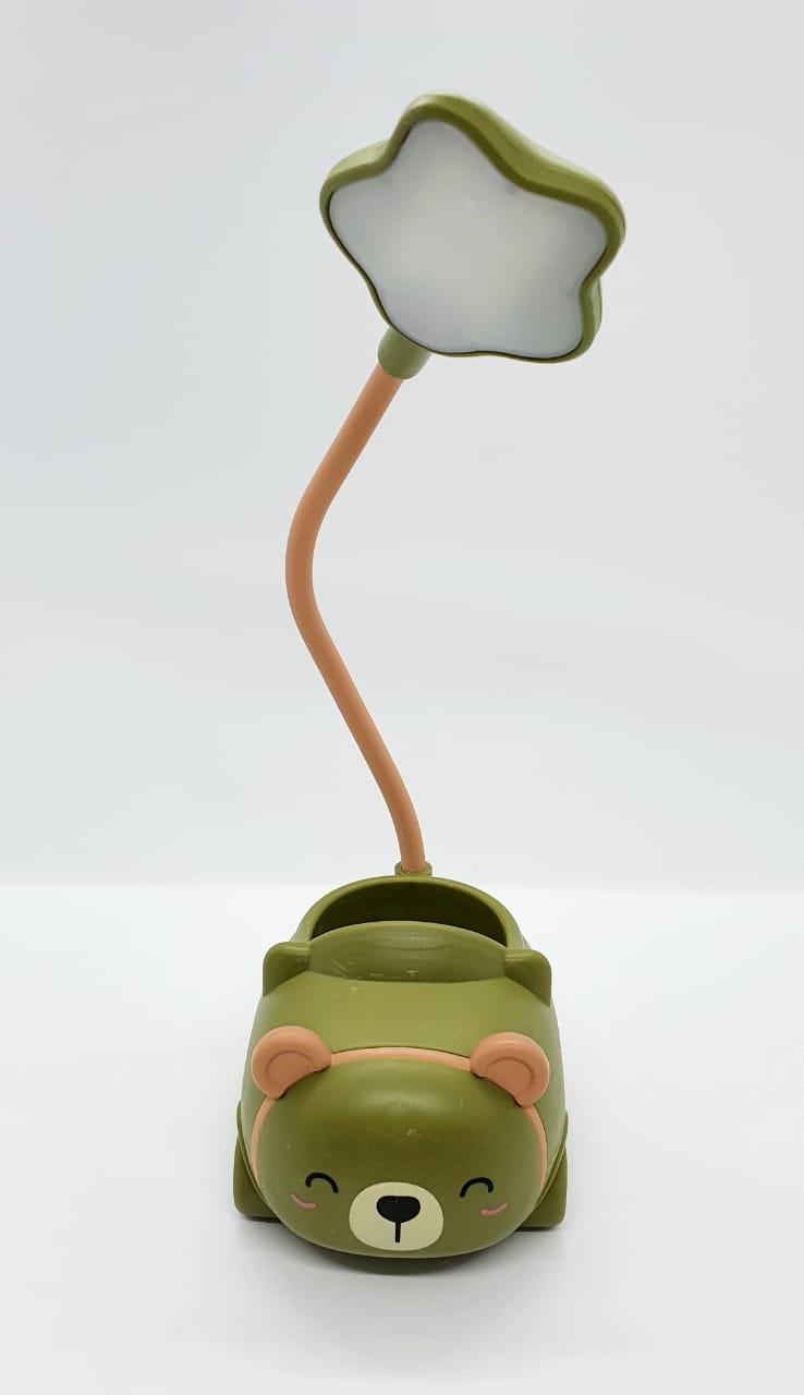 Luminária de LED tipo abajur - ursinho verde