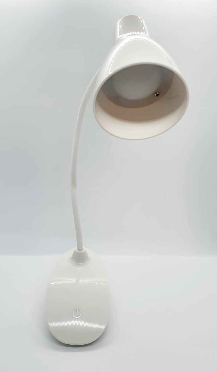 Luminária de mesa - LED redonda com presilha